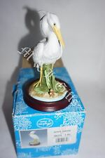 Andrea by Sadek Beautiful hand made & painted White Heron