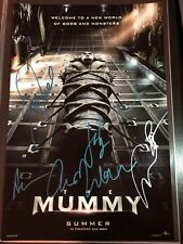 THE MUMMY CAST SIGNED PHOTO 12X18! TOM CRUISE! ANNABELLE WALLIS! AUTOGRAPH!
