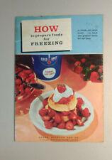 Sears Coldspot Freezer - Food Preparation & Instruction Booklet - Vintage 1961