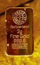 Goldbarren  2 Gramm   ( Bank- Ausgabe der Consorsbank )