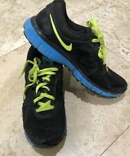 NIKE Dual Fusion ST2 Men's Size 10 Sneakers Black Blue Athletic Training Shoes