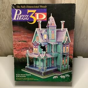 Puzz 3D Victorian House 700 Pieces Extra Challenging Milton Bradley Complete!!