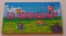 Pink shadow lady  Inspired Minecraft Name Plaque Child's Bedroom Door
