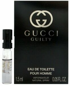 Gucci Guilty Pour Homme EDT 1.5ml Spray Sample Vial Mens Perfume 100% Genuine