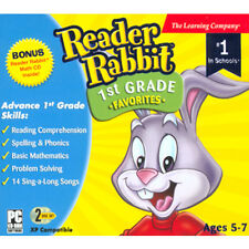 Educational PC games for kids, Reader Rabbit 1st Grade, learn reading,counting