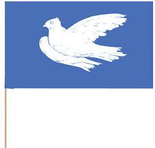 Papierfahne, Winkelement Friedenstaube, Papierfähnchen