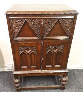 Decorative Vintage cabinet with carving (possible record player)