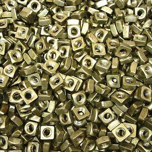 "(5,000) 1/4""-20 Regular Square Nut Coarse Thread Unplated Plain Finish Steel"