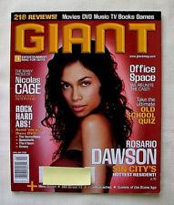 Giant April / May 2005 Rosario Dawson Nicolas Cage Zoe Saldana Deadwood Xtc