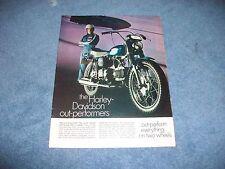 "1969 Harley-Davidson Sprint 350 Vintage Ad ""The Harley-Davidson Out-Performs.."""