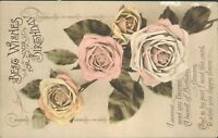 Birthday roses floral sent card instead of flowers