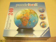 Maps cardboard jigsaws puzzles ebay new ravensburger 240 piece puzzle ball jigsaw illustrated world map gumiabroncs Choice Image