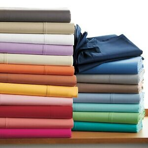 Hotel Quality 1 PC Bed Skirt Egyptian Cotton 1000 TC Solid Colors US Full XL