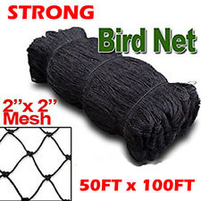 Strong 50ftx100ft Bird Net Netting For Bird Poultry Avaiary Game Pens 2 Hole