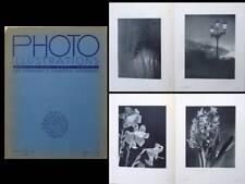 PHOTO ILLUSTRATIONS 1937 FRENCH PHOTOGRAPHY MAGAZINE, PIERRE AURADON, FG MAURER