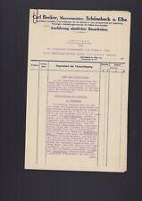 SCHÖNEBECK, Brief 1927, Carl Becker Maurermeister Sachverständigen-Bericht Wert-