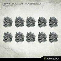 Kromlech Chaos Legionary Shoulder Pads: Demon Visage (10) Brand New KRCB233