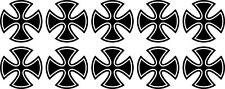 10x Malteserkreuz Maltese Cross 66 Aufkleber