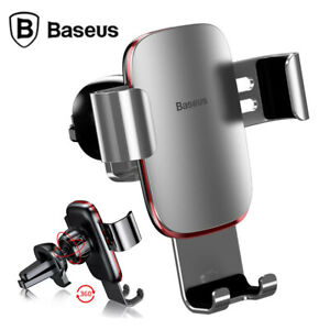 Baseus Universal Car Phone Holder Air Vent Mount Aluminum For iPhone 11 Pro Max