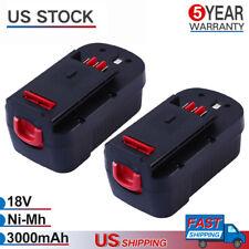 18V 3.0Ah Ni-Mh Battery For Black & Decker HPB18 FS18FL A1718 HP188F2B Firestorm