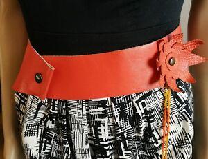 Handmade Boho Hippy Wide Leather Belt
