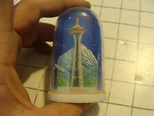 vintage 60's-70's Plastic Snow Globe Hong Kong: Space Needle Seattle Wa. #2
