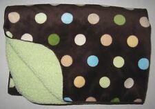 Circo Brown Polka Dots Green Sherpa Baby Blanket Lovey 30x40 Target