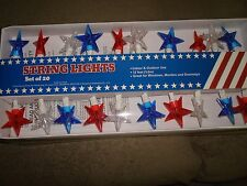 String Lights 20 Stars Red White And Blue