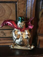 Rare! Christmas Snowman Brooch Spilla Di Natale Pupazzo Di Neve Vintage Gerry's