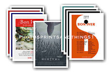 BON IVER  - 10 promotional posters  collectable postcard set # 1