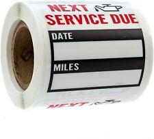 150 Oil Change Service Reminder Stickers Labels Clear Window Lite Sticker Roll