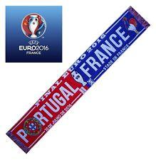 ECHARPE FINALE EURO 2016 FRANCE PORTUGAL football no drapeau maillot fanion ...