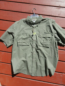 Rugged Earth Mens XL Vented New  Button Up multi pocket Shirt~fishing~Camping