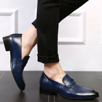Men's Leather Loafers Formal Business Party Dress Casual Driving Shoes Slip On