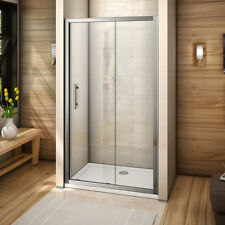 Aica Sliding Door Shower Enclosure and 1100x900mm Stone tray 6mm Safety Glass