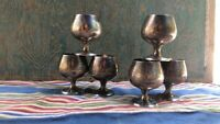 Set of Vintage GORHAM 6 Cordial Shots, Goblets, Cups Sterling Silver Stamped 955