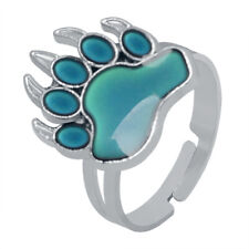 Creative Paw Shaped Mood Ring Women Men Temperature Color Changing Rings Jewelry