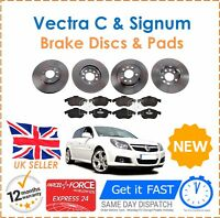 For Vauxhall Vectra C 1.8 1.9 2.0  2.2 Front & Rear Brake Discs & 8 Brake Pads