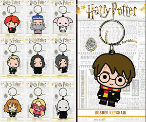 Harry Potter Chibi Keyring Rubber Official Licensed Character Keychain Gift New