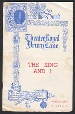 1950'S THEATER ROYAL THE KING AND I PROGRAM ADVERTISEMENT LONDON