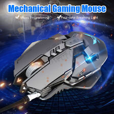 ZERODATE X300GY Mechanical Macros Wired Gaming Mouse 7 keys Optical 4000 DPI LED