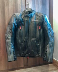 TRIUMPH Motorcycle Leather Motorbike Leather Jacket. CE Approved Padding