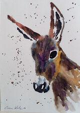 "Fridge Magnets, Donkey 4.25"" x 5.5"" professionally printed from original artwork"