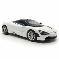 2019 McLaren 720S Supercar 1:32 Scale Model Car Diecast Toy Vehicle White Kids