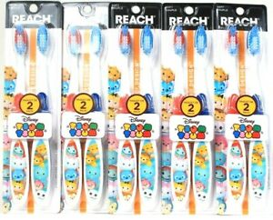 5 Packages Reach Disney Tsum Tsum 2 Ct Soft Toothbrushes Designed For Children