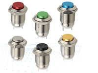 12mm Waterproof Momentary High Round Metal Push Button Switch Metal Switch Round