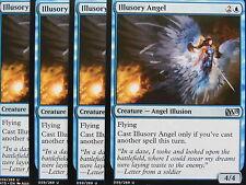 XXX 4x ILLUSORY ANGEL englisch magic 2015 M15 (illusion angel flying blue) NM/M