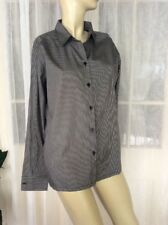 NEW SIZE 6 CATCHLOVE COLLECTIVE BLACK STRIPED COTTON BUTTON SHIRT  $189🍨