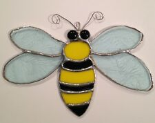 Stained Glass Bumblebee Suncatcher - Made in the USA in NH- makes a great gift!