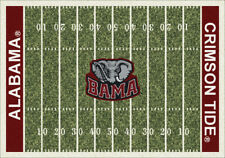"5x8 Milliken Alabama Crimson Tide NCAA Home Field Area Rug - Approx 5'4""x7'8"""
